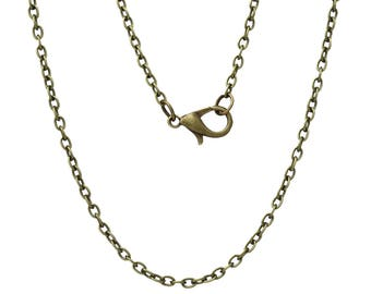 62cm chain with lobster clasp with 2 x 3 mm chain color bronze