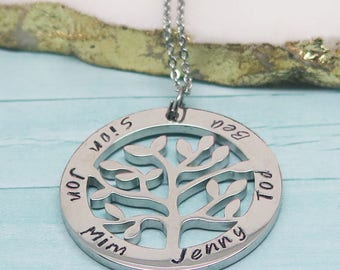 Tree-of-Life Jewelry - Family Tree Necklace - Birthday Necklace for Wife - Name Necklace - Cute Gifts for Wife - Summer Jewelry Trend