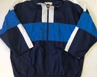 Vintage Nike Windbreaker Sz L just do it retro blue white 90s