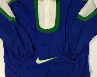Vintage Nike Windbreaker half zip anorak pattern retro 90s