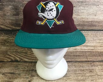 Vintage 90s Mighty Ducks Disney snapback Anaheim nhl ccm hockey
