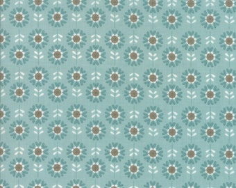 PREORDER - Arrives in October - Moda - Hello My Friend by Sandy Gervais - Sky - 17948 11 - 100% cotton fabric