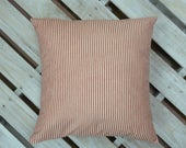 Organic Cotton, Red Ticking Pillow, Red and white stripe, Farmhouse Pillow, French Decor, Pillow Cover, All sizes, Over sized Options