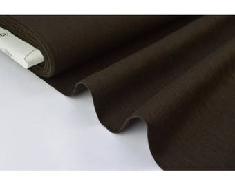 Brown x50cm washed linen fabric