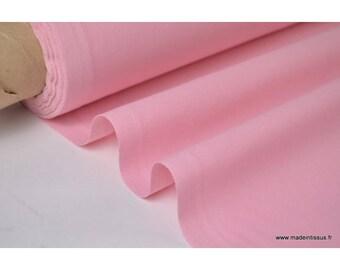 Tissu cretonne coton rose par 50cm