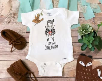 Beard Onesie®, Hipster Baby Clothes, Fuzzy Daddy Onesie, I Love My Bearded Daddy Onesie, Funny Baby, Dad Onesie, Baby Boy Clothes,Beard Gift
