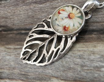 Flower necklace | Leaf necklace | homemade jewelry