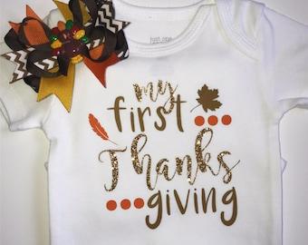 My First Thanksgiving bodysuit