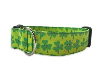 St. Pattys Day Dog Collar, Personalized Collar, Embroidered Collar, Green Collar, Dog Collar, Shamrock Dog Collar, St. Patricks Day Dog
