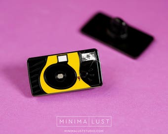 Disposable Camera Enamel Lapel Pin