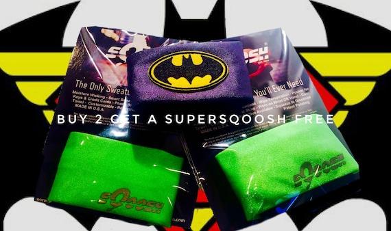 Pair of Lime sQoosh Sweatbands & Free Batman SUPERSQOOSH