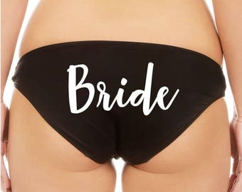 Bride - Customize your color choices - bikini panties underwear for bachelorette party / personal shower gift!
