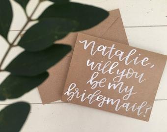 Bridesmaids Proposal Card | Personalized Bridesmaid Card | Will You Be My Bridesmaid?