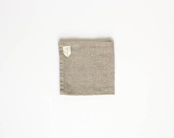 two linen washcloths / flax washcloth / natural and unprocessed