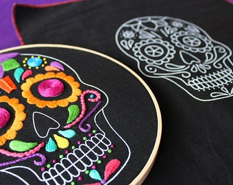 "embroidering pattern ""sugar Calaverita"" + videotutorial"