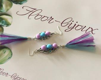 Trendy 2017 earrings elegant raffia tassels and rhinestone