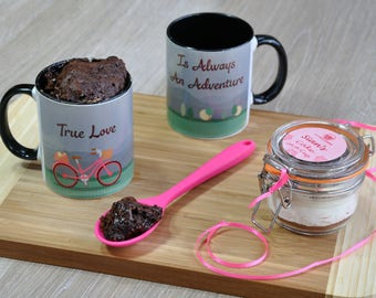 Valentines gift for her, wife gift, girlfriend gift, Romantic treat, Valentines baking gift, gift for girlfriend, biking girl, lover present