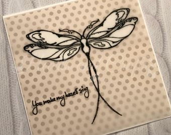Handcrafted Greeting Card - Dragonfly (PAT-0034)