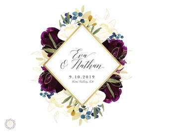 Custom Logo Design, Wedding Monogram, Wedding Logo, Photography Logo, Floral Logo, Monogram Logo, Personalized Logo, Business Logo, #PNG