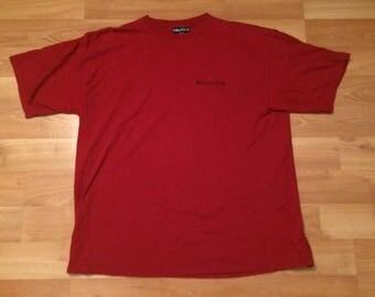XXL 90's Nautica T shirt men's red blue Nautica Crew Performance 1990's Made in the USA sailing 2XL