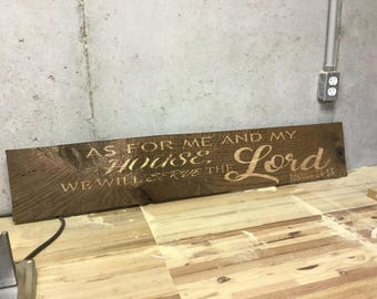 As for me and my house wood sign