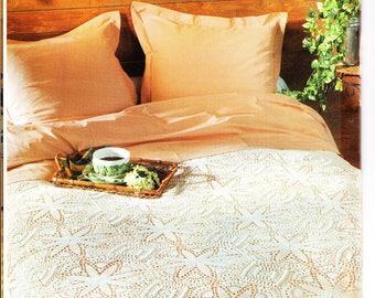 58. Vintage crochet  bedspread UK pattern in pdf