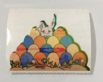 Vintage Sandylion Pearl Easter Eggs Bunny Ranbit Sticker