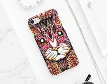 Cat iPhone Case - iPhone 7 Case, iPhone 7 Plus Case, iPhone 6s Case, iPhone 6s Plus Case, iPhone 6 Case, iPhone 6 Plus Case, Cat Lovers