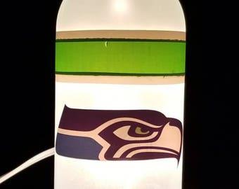 Small Seattle Seahawks Wine Bottle Lamp