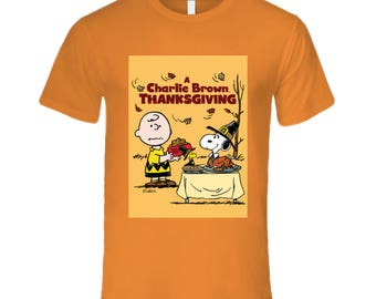 The Peanut Gang - Charlie Brown Thanksgiving Men's Fitted T Shirt