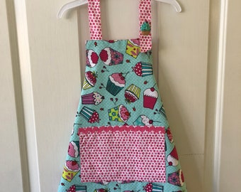 Girl Toddler/child apron for kitchen or crafting