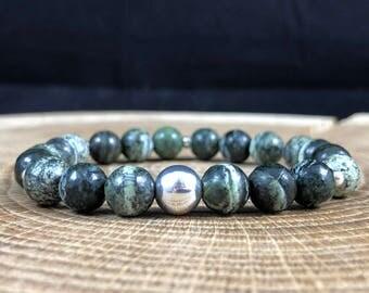 Chrysotile Bracelet 925 Sterling Silver Stacking Yoga Healing 18cm 411