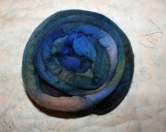 Hand dyed Merino wool cielo-combed
