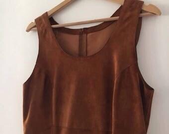 Leather Dress Vintage 90s