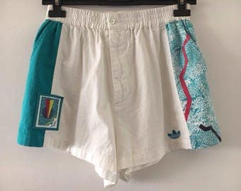 Adidas Vintage High Waist Style Tennis Shorts for Women