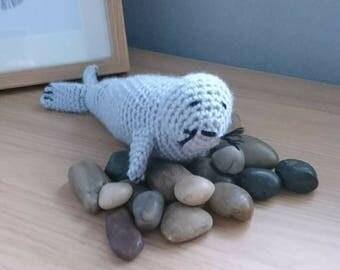 Crochet Seal ornament. Seal, Sealife, Home decor