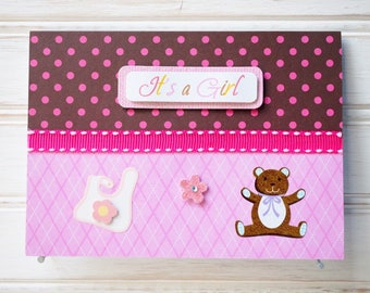 BABY GIRL Card - Handmade/Homemade Baby Girl Card