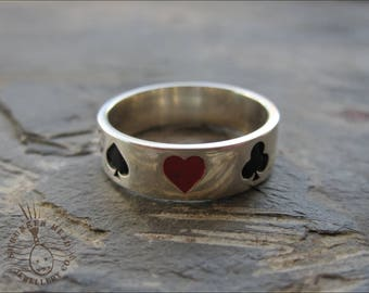 Sterling Silver Playing Card Ring