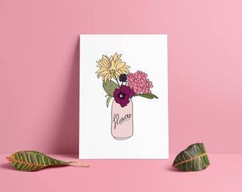 Flowers can displays & card