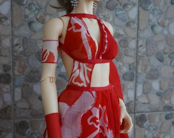 Love dress set for BJD Iplehouse EID/DollShe 65 Amanda dolls