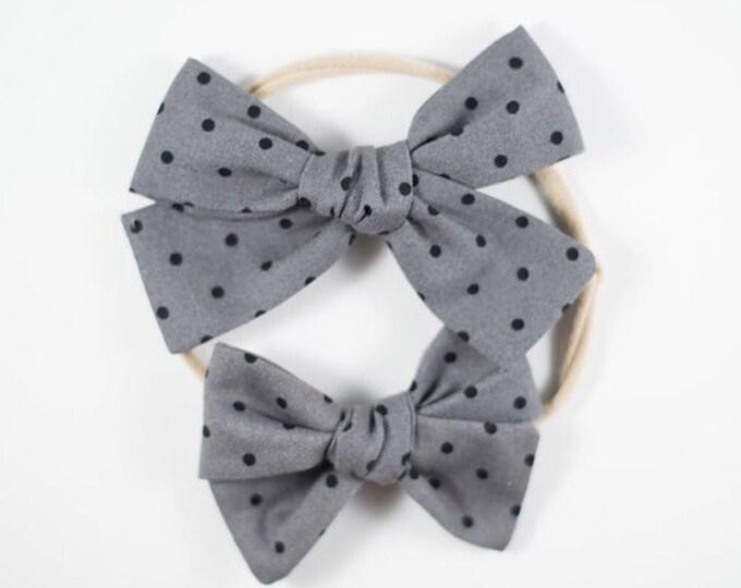 Sloane bow || Swiss dot