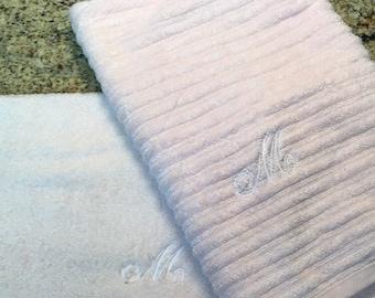 Monogrammed towel