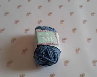 Mini blue grey cotton yarn crochet amigurumi canvas