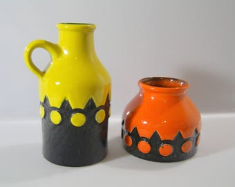 Funky vases by Jasba - 170117 and 157509, WGP, West German Pottery