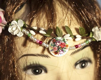 "Flower Crown model ""The fairy Roses"""