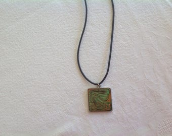 Short necklace leather cord