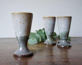 French pottery goblets
