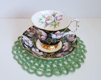 Vintage Royal Albert Tea Cup and Saucer, Prairie Crocus, Made in England