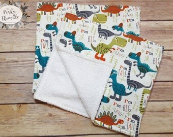 Dinosaur burp cloths, Baby boy burp cloth, Embroidered Dinosaur burp cloth, Dinosaur Nursery, Dinosaur baby gift, personalized shower gift