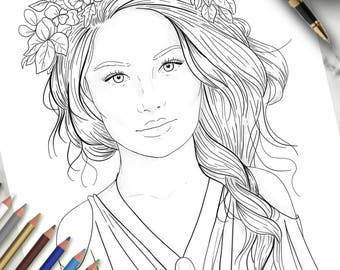 Printable Colouring Page Eve